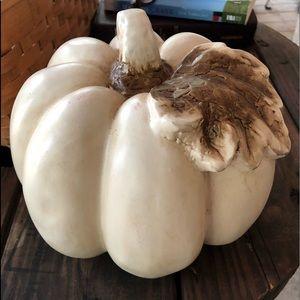 Other - White Ceramic Thanksgiving Pumpkin Decoration
